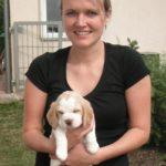 Verena mit Beagle Bonja