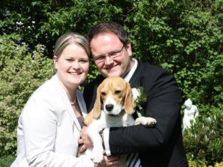 Hochzeit mit Beagle Emma